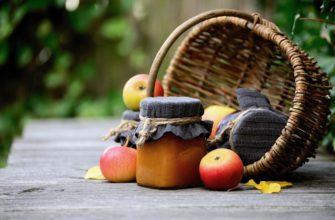 Брусничное варенье с яблоками